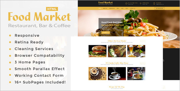 Restaurant Menu HTML Template