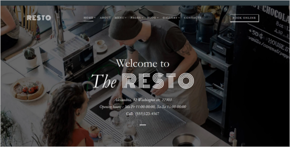 Restaurant MultiPage Website Theme