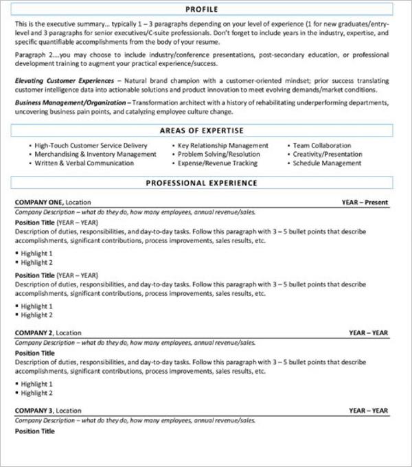 Resume Form Excel