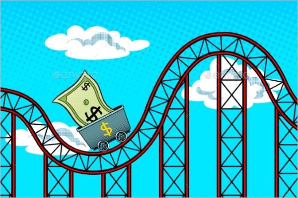 Retro Dollar Background Vector
