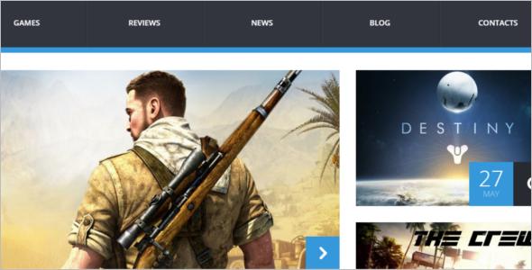 Retro Game Portal WordPress Theme