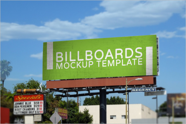 Road Side Advertising Display Mockup