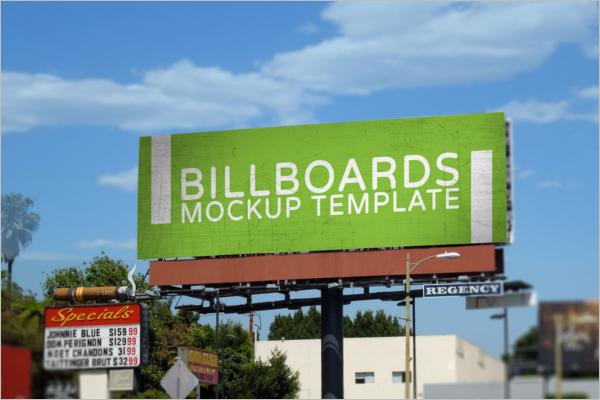 Road SideAdvertising Display Mockup