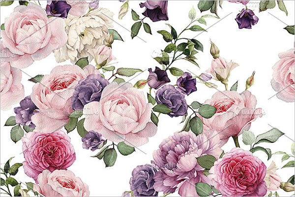 Rose Seamless Pattern Vector Design