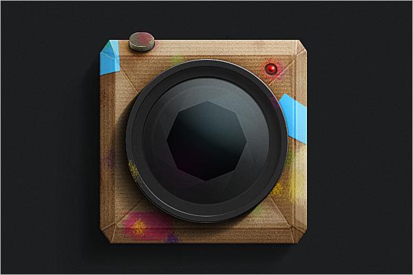Rustic Camera Mockup Free Download