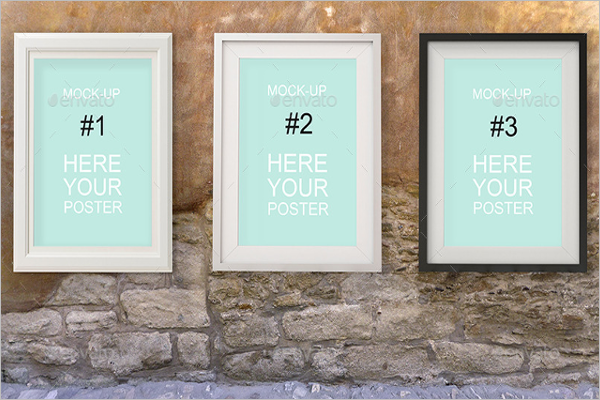 Rustic Wall Gallery Poster Mockup