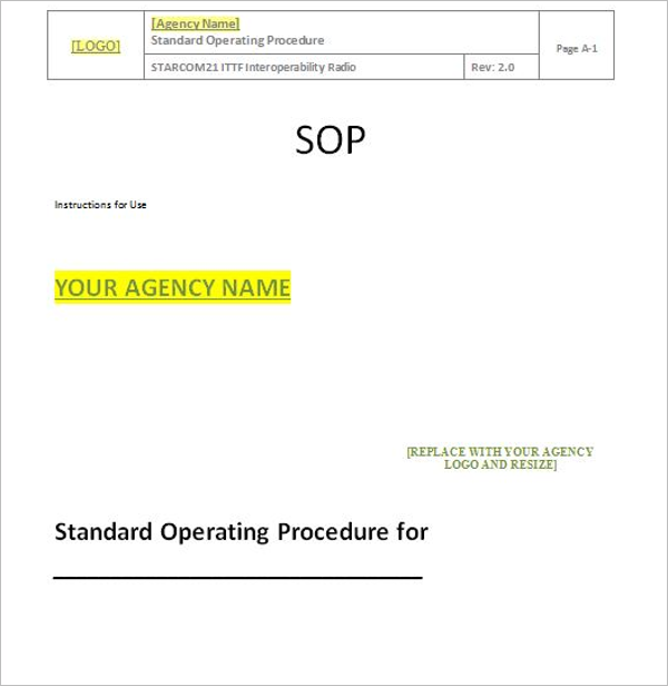 SOP For Production Department