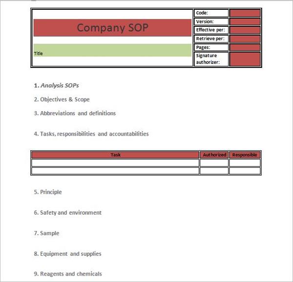 SOP For Production Management