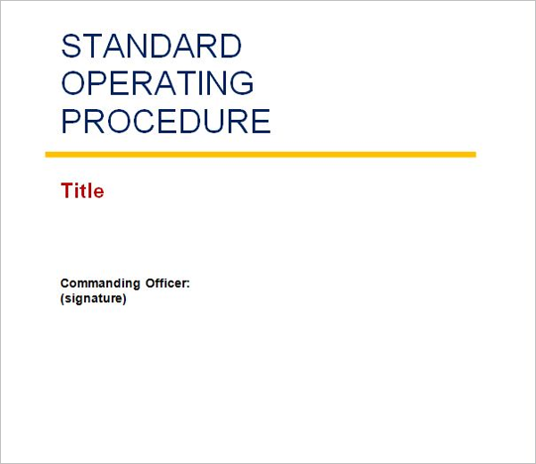 45 free standard operating procedure templates word for Standard operating guidelines template