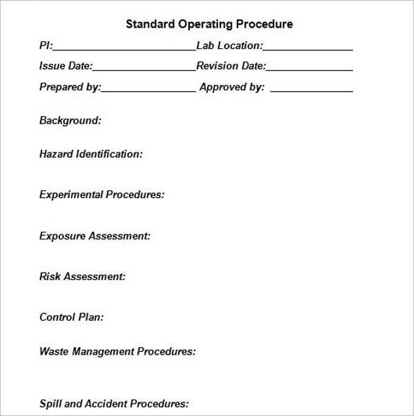 SOP Production Process Template