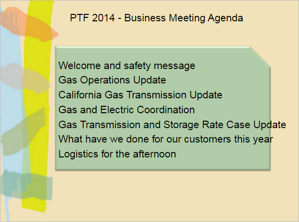 Safety Meeting Agenda Template PDF