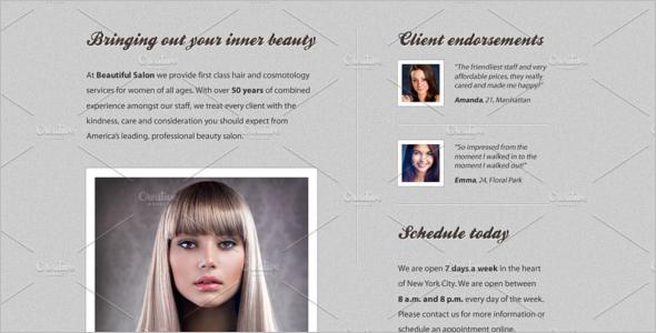 Salon Web Template