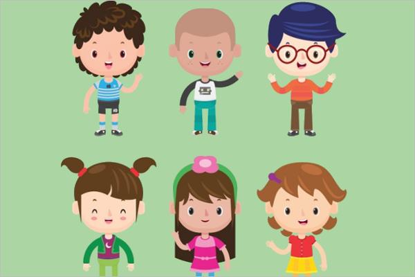 Sample Cartoon Girl Characters