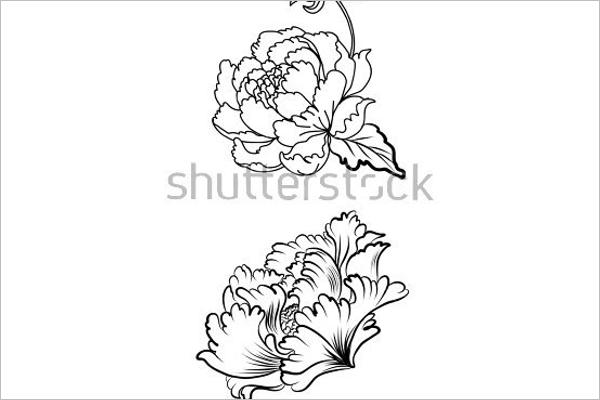 Sample Flower Tattoo Design