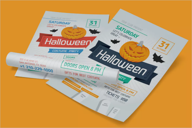 Sample Halloween Poster Template