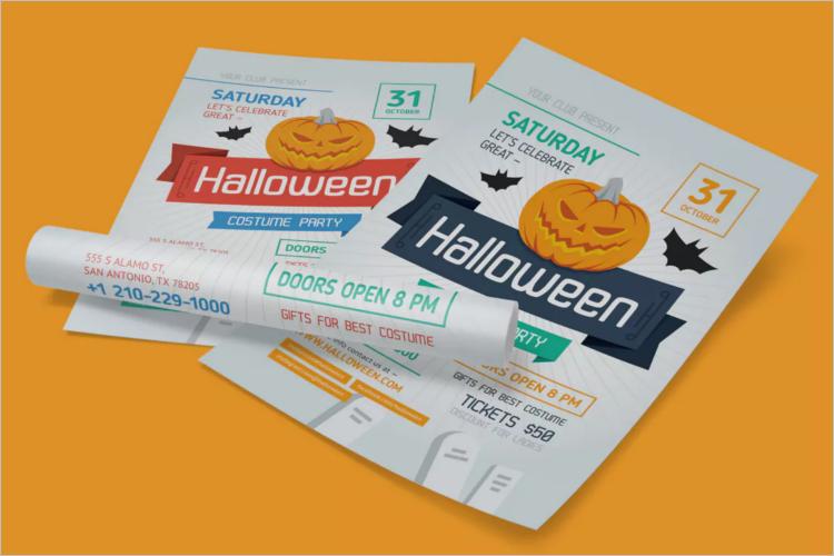 Sample Halloween Poster Template