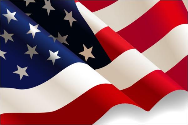 Sample USA Flag Design