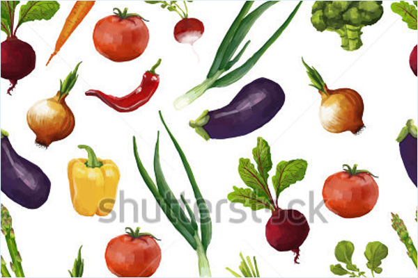 Sample Vegetables In Watercolor Style