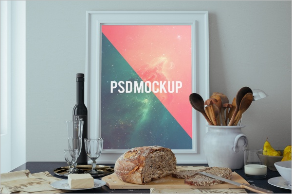 Sample Wall Poster Mockup