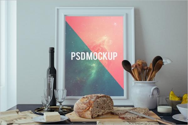 Sample Wall Poster Mockup