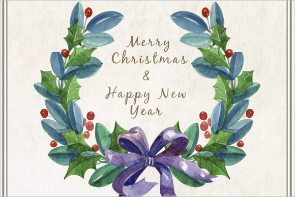 Sample Watercolor Christmas Card