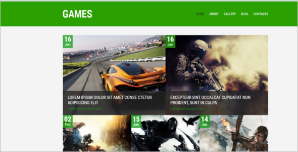 Sample Gaming WordPress Theme