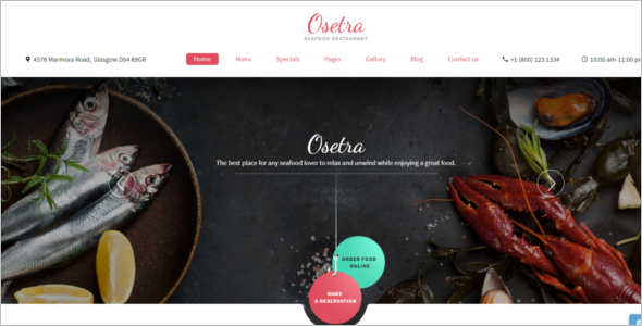 Seafood Restaurant Website Template