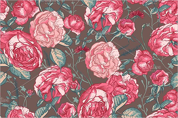 Seamless Roses Background Design