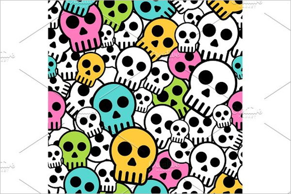 Seamless Skull Background Design