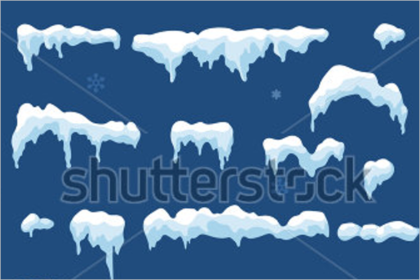 Set of Isolated Winter Background