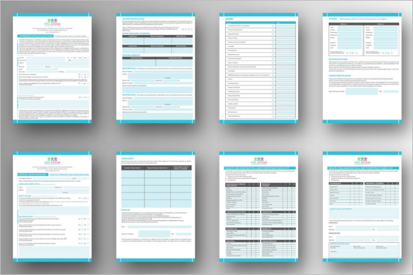 Set of Medical Form Template