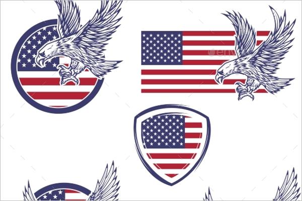 Set of USA Emblems