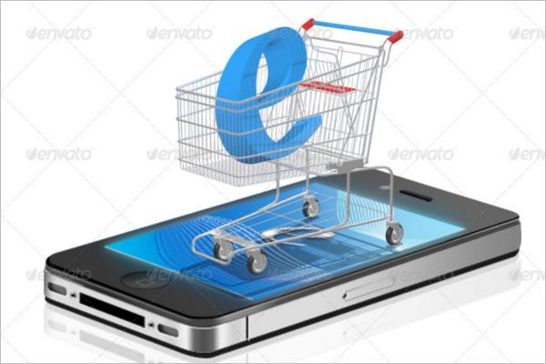 Shoping Cart Advertising Mockup Design