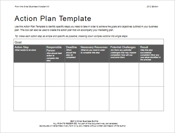 31 action plan templates free excel word examples samples for What is an action plan template