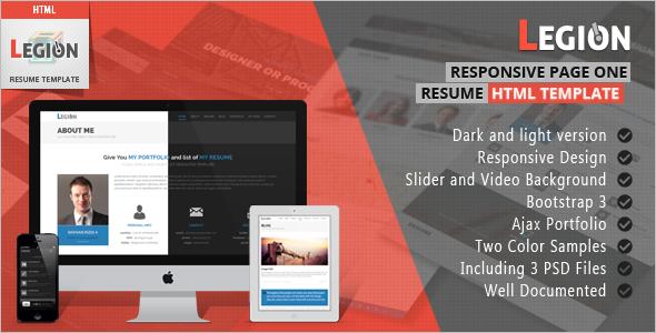 Simple Dark HTML Template