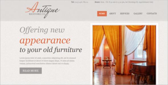 Simple Furniture Website Template