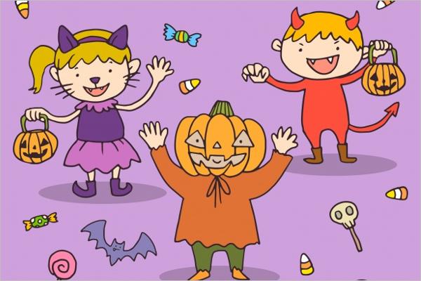 Simple Halloween Background Design