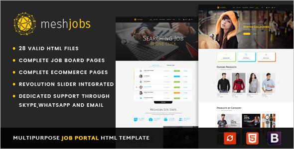 Simple Job Portal HTML Template