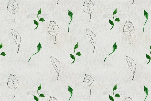Simple Leaves Seamless Pattern