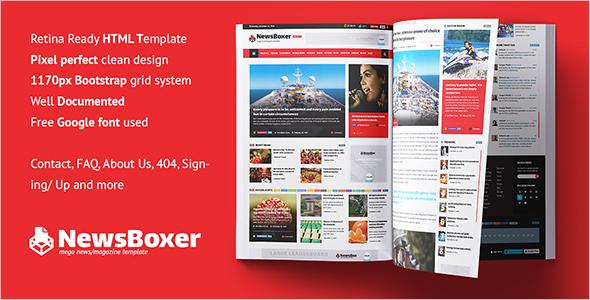 25 responsive html5 magazine templates free premium themes. Black Bedroom Furniture Sets. Home Design Ideas