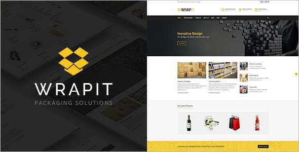 Simple Packaging Company WordPress Theme