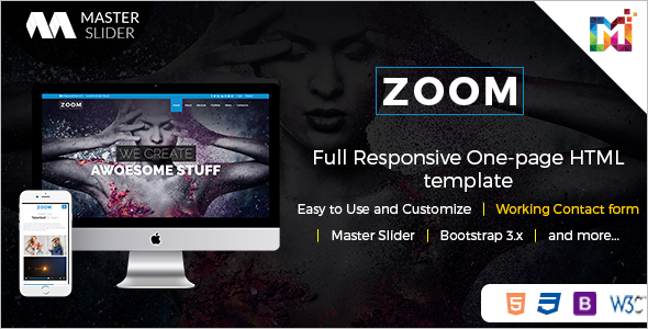 Simple Parallax HTML Template