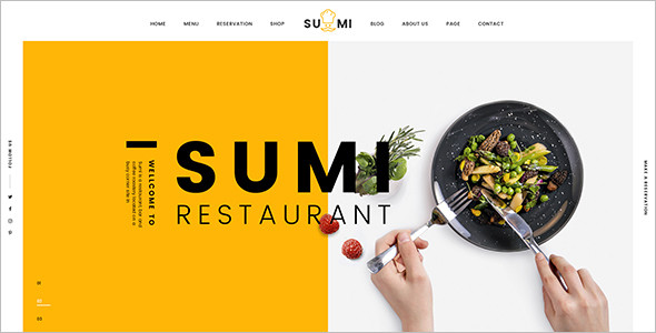 Simple Restaurant HTML Template