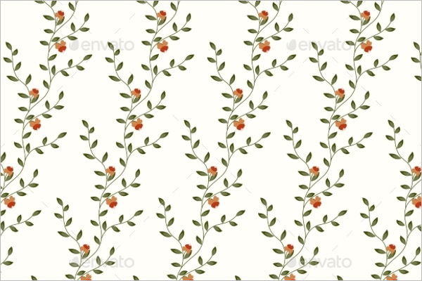 Simple Retro Floral Pattern