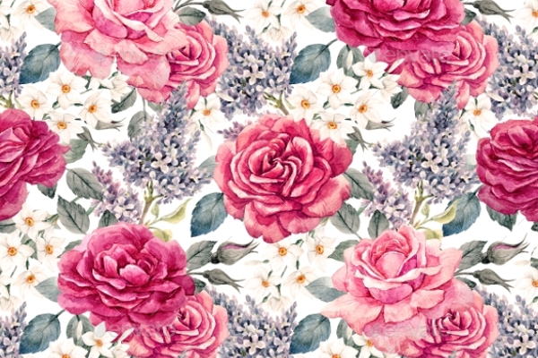 Simple Rose Seamless Pattern