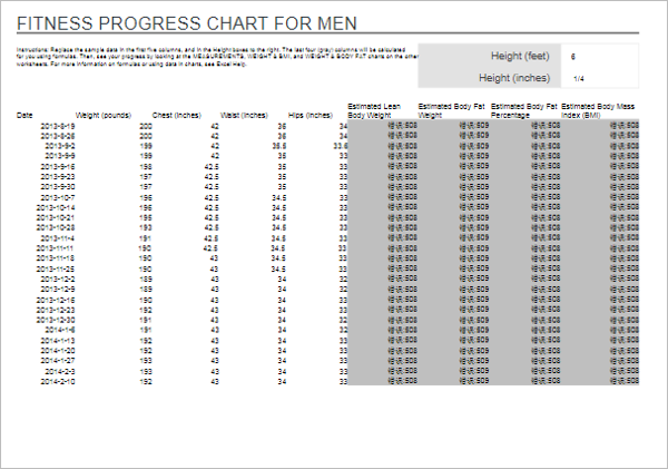 Simple Weight Loss Chart Template