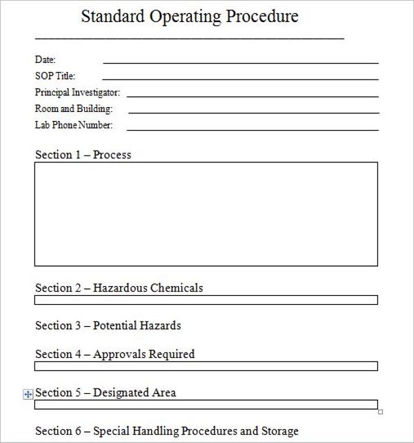 Simply Standard Operating Procedure
