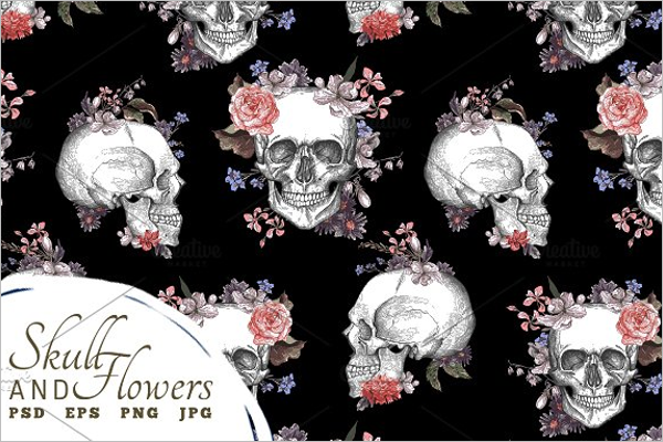Skull Pattern PSD Design