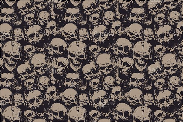Skull Seamless Pattern Design