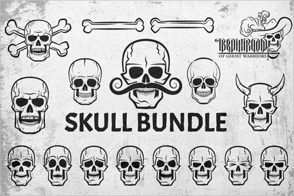Skull bundle Vector Design